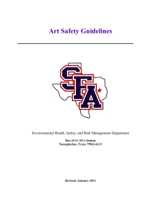 Art Safety Guidelines Environmental Health, Safety, and Risk Management Department