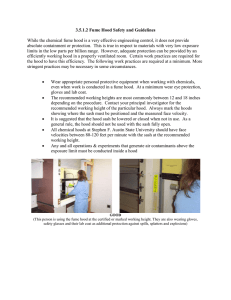 3.5.1.2 Fume Hood Safety and Guidelines