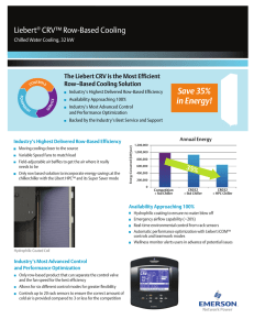 Save 35% in Energy! Liebert CRV™ Row-Based Cooling