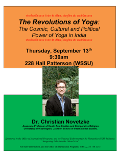 The Revolutions of Yoga The Cosmic, Cultural Power