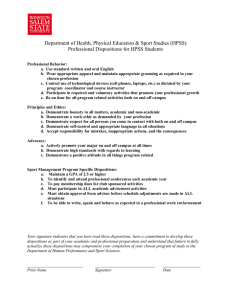 Department of Health, Physical Education & Sport Studies (HPSS)