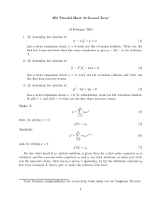 2E2 Tutorial Sheet 16 Second Term 24 February 2004 (1 − x)y