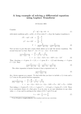 A long example of solving a differential equation using Laplace Transform