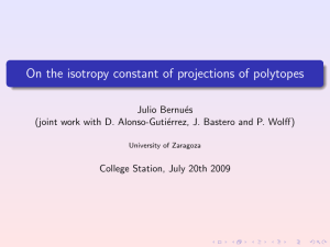 On the isotropy constant of projections of polytopes