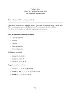 Problem Set 4 Math 302, Section 504, Fall 2015