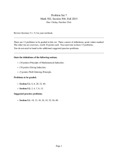 Problem Set 7 Math 302, Section 504, Fall 2015