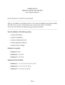 Problem Set 10 Math 302, Section 504, Fall 2015
