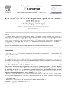 Kantorovich's type theorems for systems of equations with constant rank derivatives