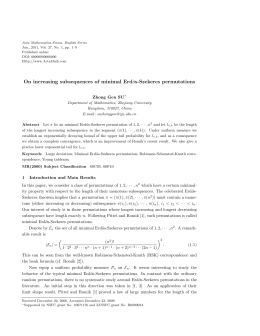 Acta Mathematica Sinica, English Series Published online: DOI: 00000000000000