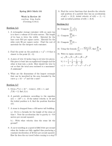 9. Find the vector functions that describe the velocity