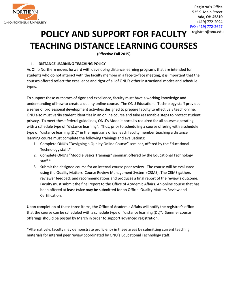Policy and support for faculty teaching distance learning courses 1betcityfo Images