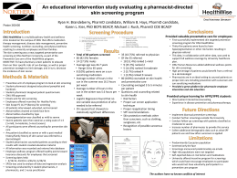 An educational intervention study evaluating a pharmacist-directed skin screening program