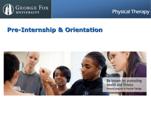 Pre-Internship & Orientation Physical Therapy