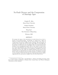 No-Fault Divorce and the Compression of Marriage Ages