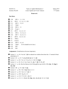 MATH 311 Topics in Applied Mathematics I Spring 2015 Sections 502,503
