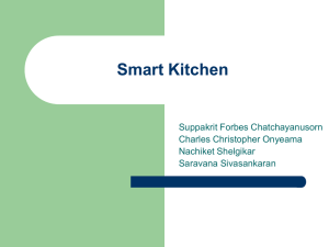 Smart Kitchen Suppakrit Forbes Chatchayanusorn Charles Christopher Onyeama Nachiket Shelgikar