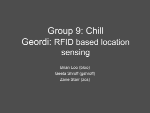 Group 9: Chill Geordi: RFID based location sensing