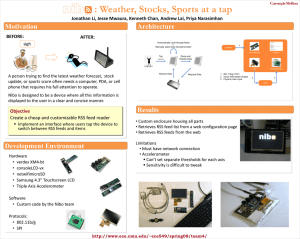 : Weather, Stocks, Sports at a tap Motivation Architecture