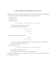 MATH 5399-001 HOMEWORK DUE 28 MAR