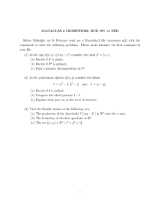 MACAULAY 2 HOMEWORK DUE ON 14 FEB