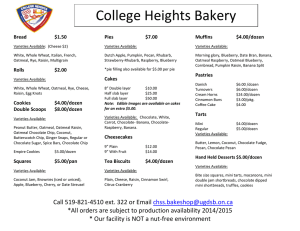 College Heights Bakery Bread  $1.50
