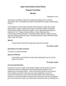 Upper Grand District School Board Program Committee Minutes