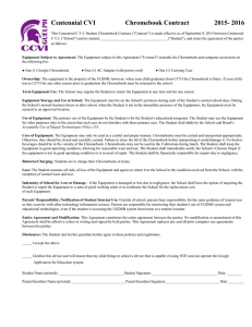 Centennial CVI  Chromebook Contract 2015- 2016