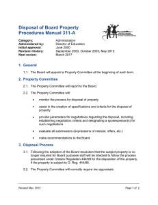 Disposal of Board Property Procedures Manual 311-A 1.  General