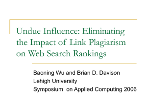 Undue Influence: Eliminating the Impact of  Link Plagiarism