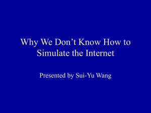 Why We Don't Know How to Simulate the Internet