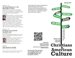 February 6 On Being Change: Christian Dissent and Social Change in America