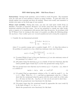 PHY 6646 Spring 2003 – Mid-Term Exam 1 Instructions: