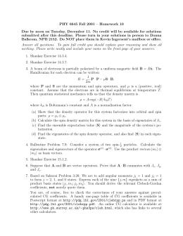 PHY 6645 Fall 2001 – Homework 10