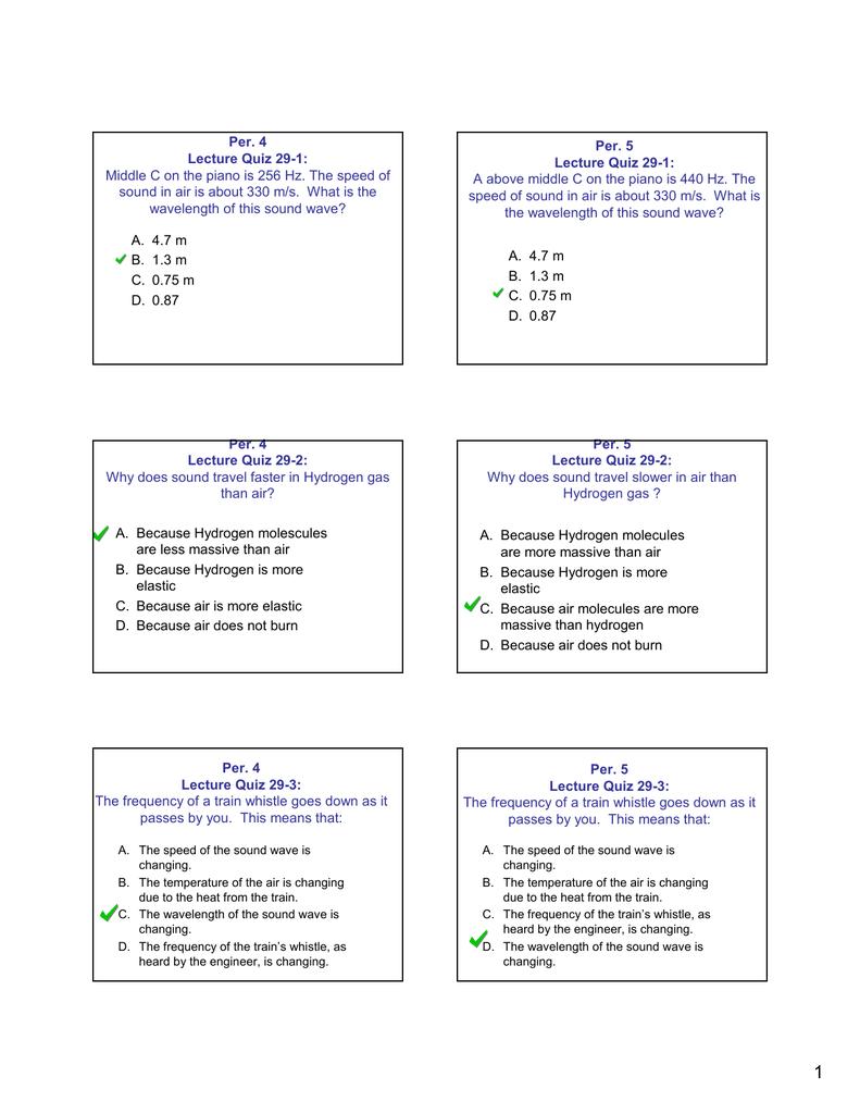 Per  4 Per  5 Lecture Quiz 29-1: