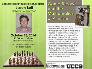 Jason Bell University of Waterloo UCCS MATH DISTINGUISHED LECTURE SERIES