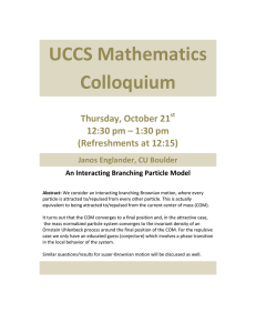UCCS Mathematics Colloquium  Thursday, October 21