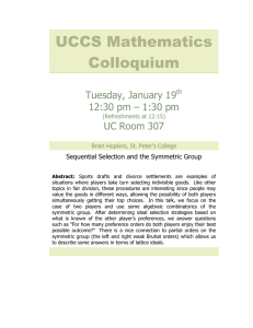 UCCS Mathematics Colloquium Tuesday, January 19