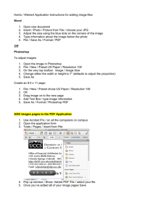 Harris / Weinert Application Instructions for adding image files Word
