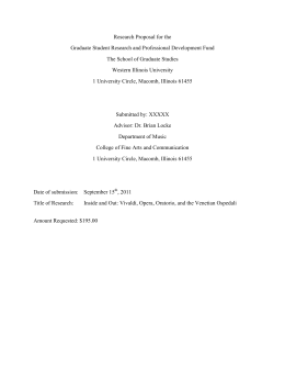 Research Proposal for the Graduate Student Research and Professional Development Fund