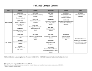 Fall 2016 Campus Courses