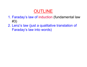 OUTLINE 1. Faraday's law of Faraday's law into words)