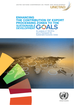ENHANCING THE CONTRIBUTION OF EXPORT PROCESSING ZONES TO THE