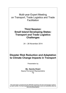 Multi-year Expert Meeting on Transport, Trade Logistics and Trade Facilitation