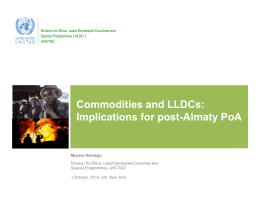 Commodities and LLDCs: Implications for post-Almaty PoA