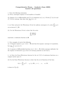 Comprehensive Exam – Analysis (June 2009) Answer all questions