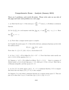 Comprehensive Exam – Analysis (January 2013)