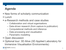 Agenda  New forms of scholarly communication  Lunch