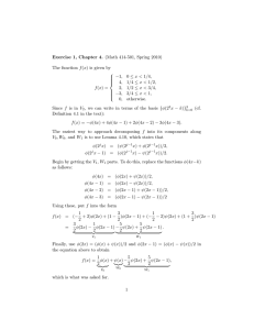 Exercise 1, Chapter 4. (Math 414-501, Spring 2010) 