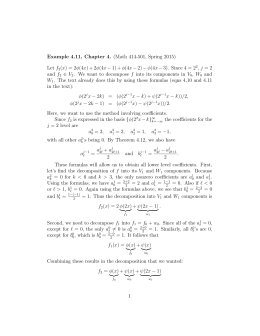 Example 4.11, Chapter 4. (Math 414-501, Spring 2015) Let f