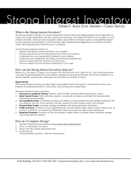 resumecover letter critique what is the strong interest inventory